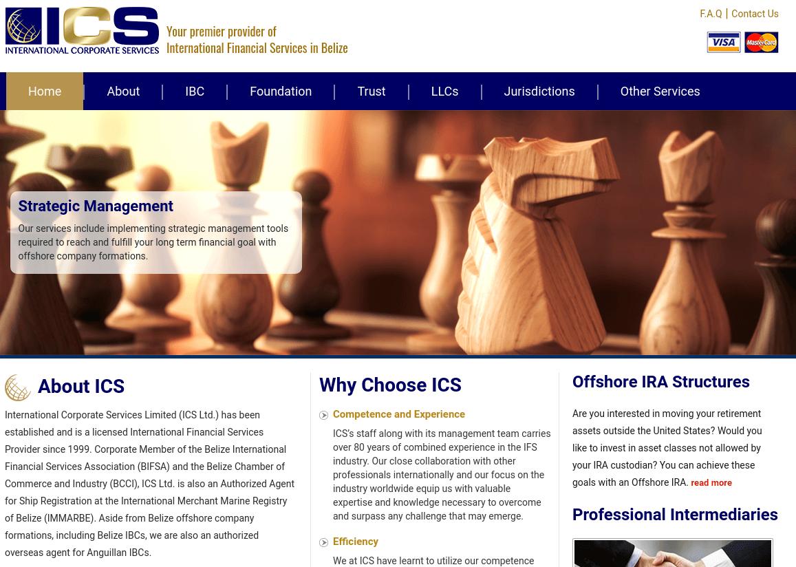 Capture d'écran de la page d'accueil de offshorebelize.com.
