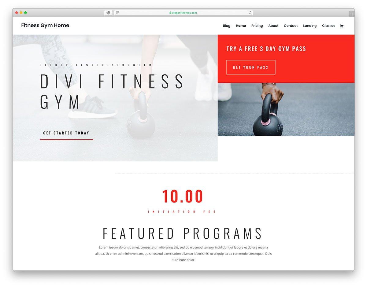 thèmes WordPress fitness