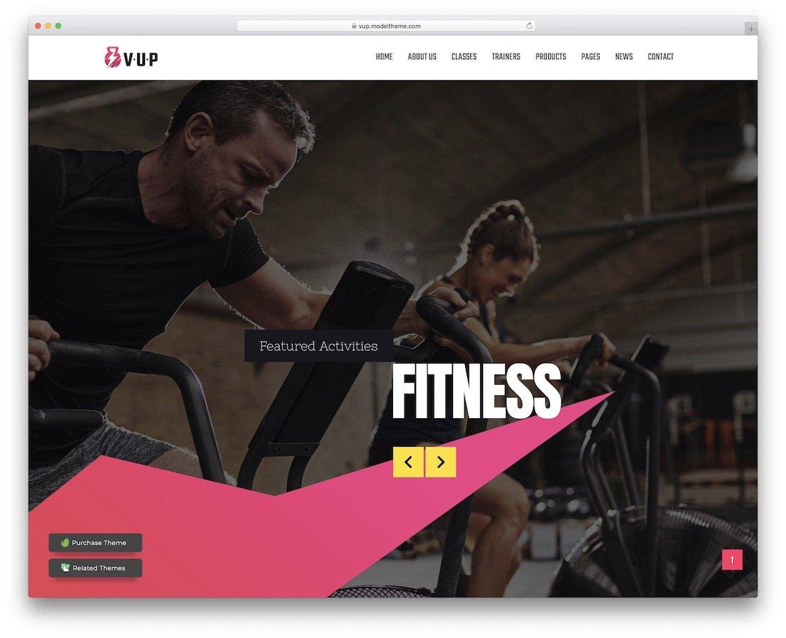 thème de fitness vup wordpress