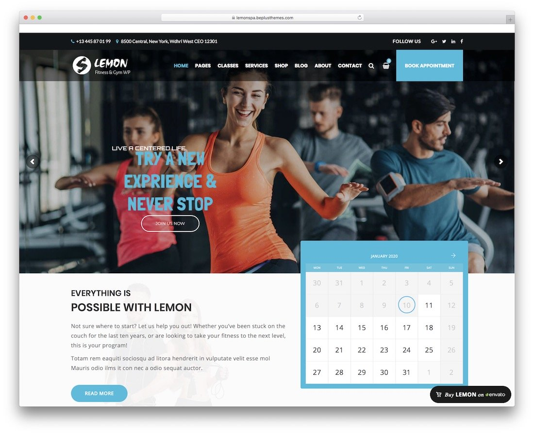 thème de fitness citron wordpress