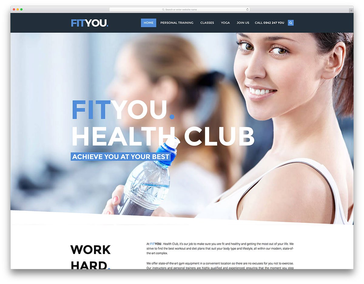 you-fitness-wordpress-website-template