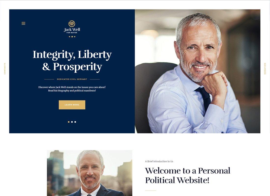 Jack Well - Campagne électorale et thème WordPress politique