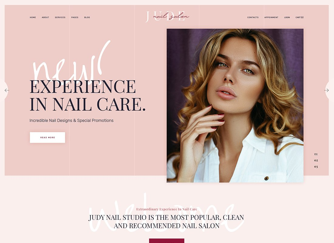 Jude - Nail Bar & Beauty Salon Thème WordPress