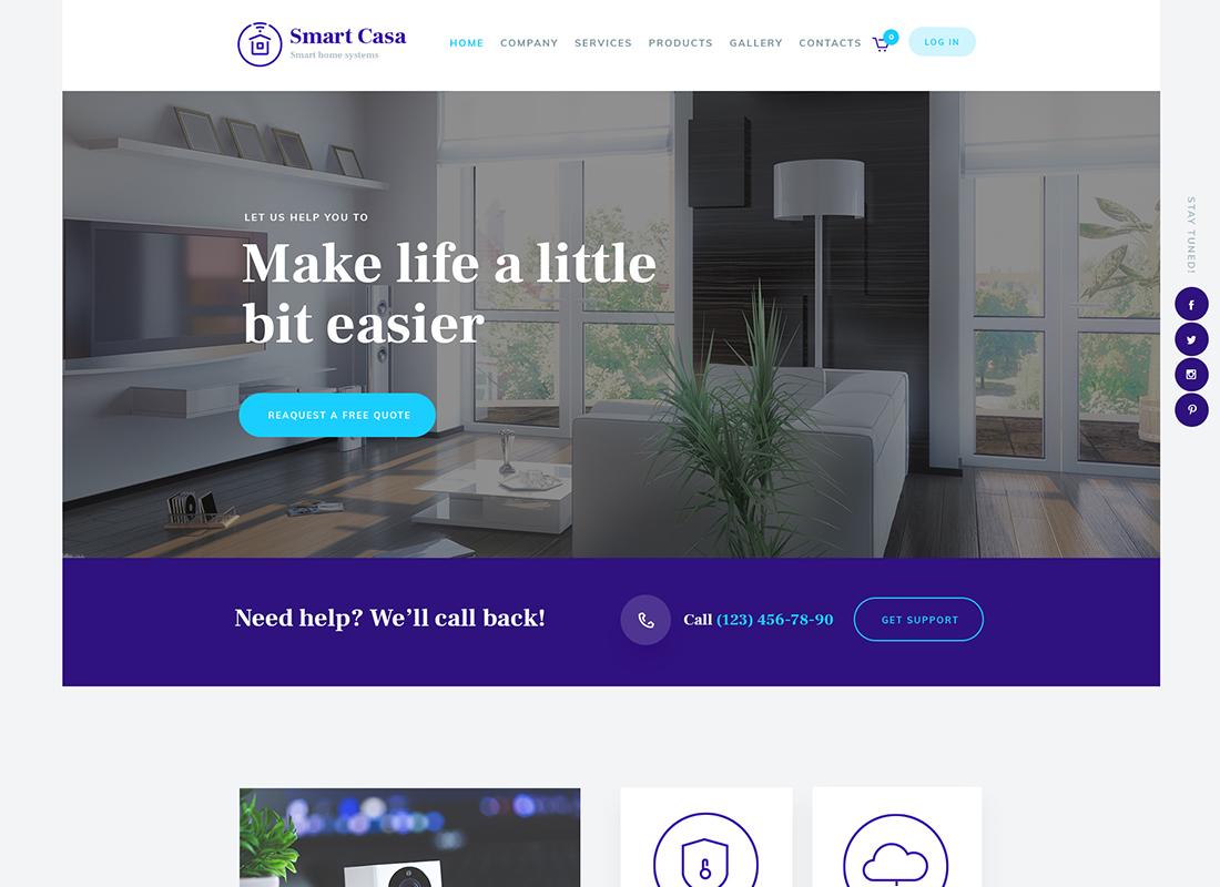 Smart Casa - Thème WordPress pour la domotique et les technologies