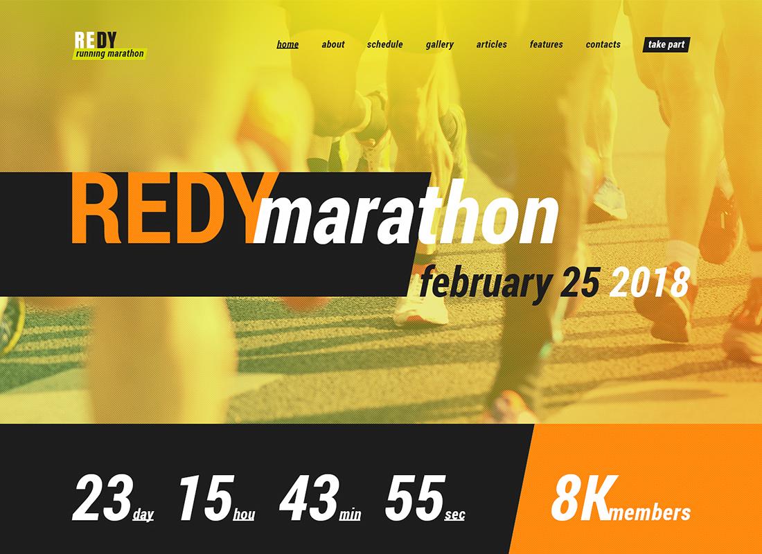 Redy - Thème WordPress Marathon et Sports