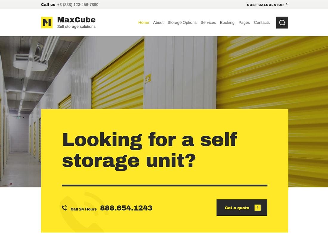 MaxCube - Thème WordPress pour entreprise de libre entreposage