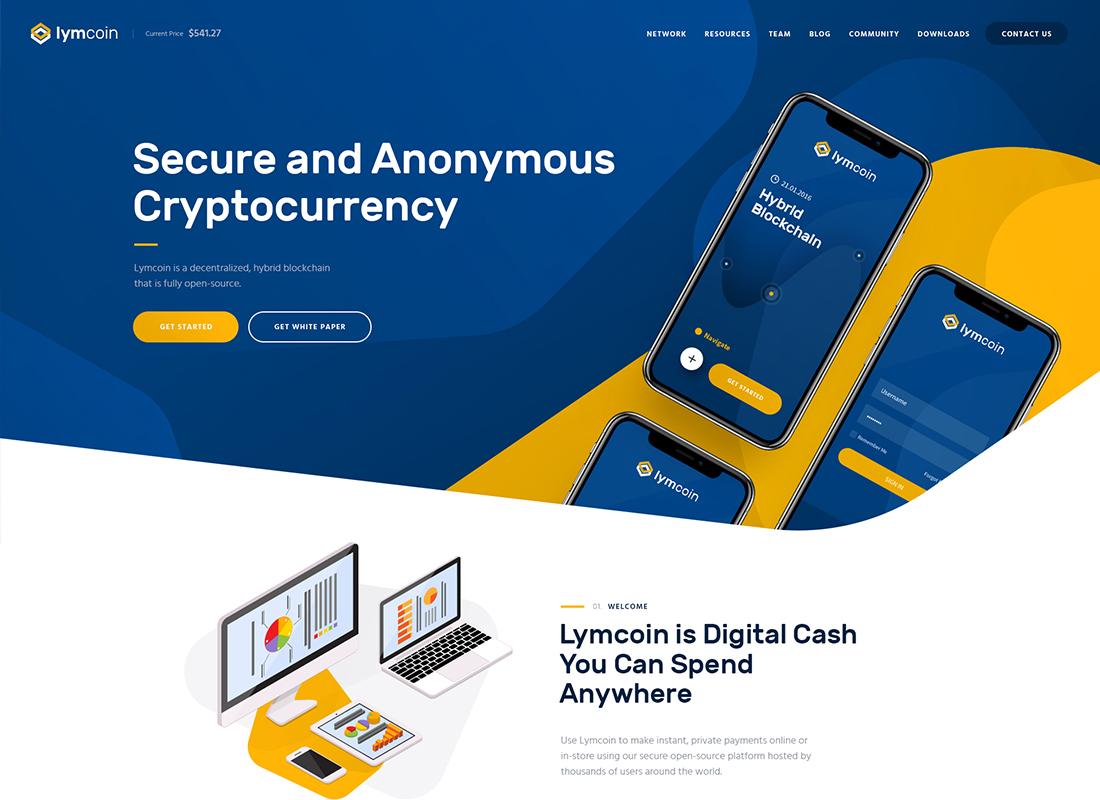 Lymcoin - Thème Crypto-monnaie et ICO WordPress