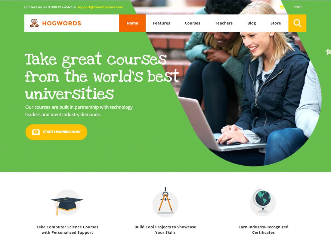 Hogwords - Thème WordPress pour le centre de formation