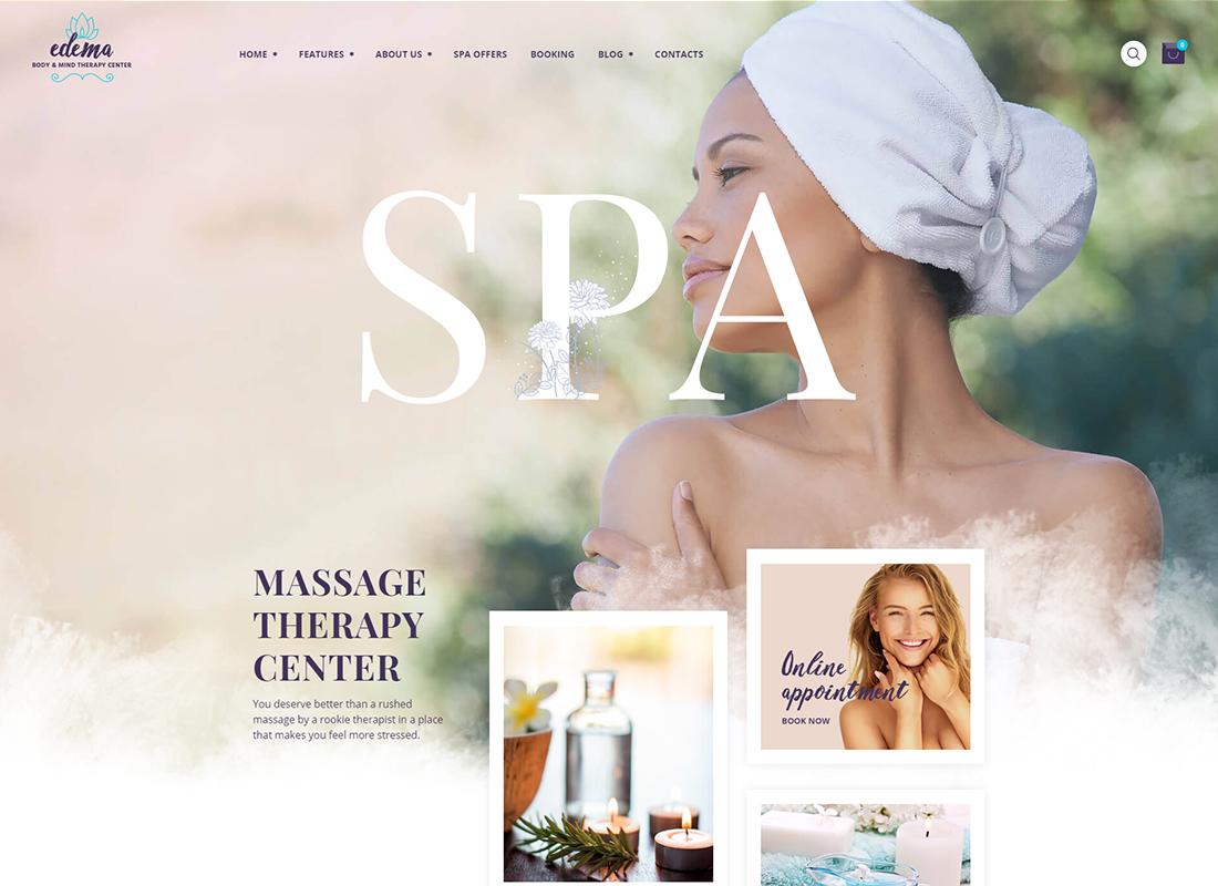 Œdème - Thème WordPress Wellness & Spa