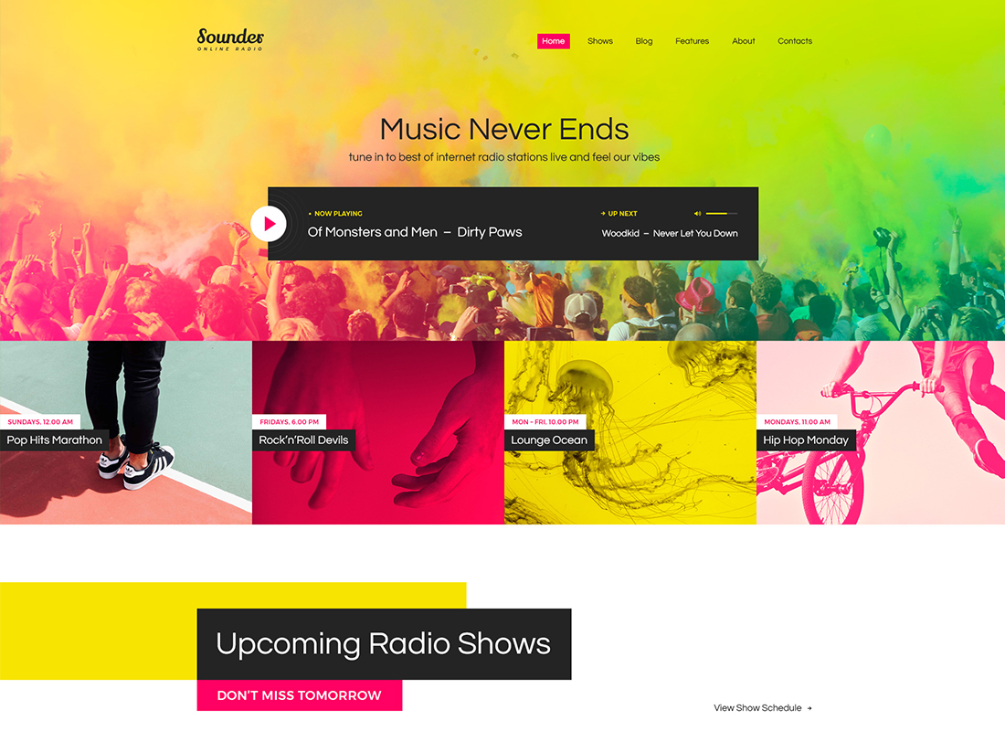 Sounder - Thème WordPress pour radio en ligne