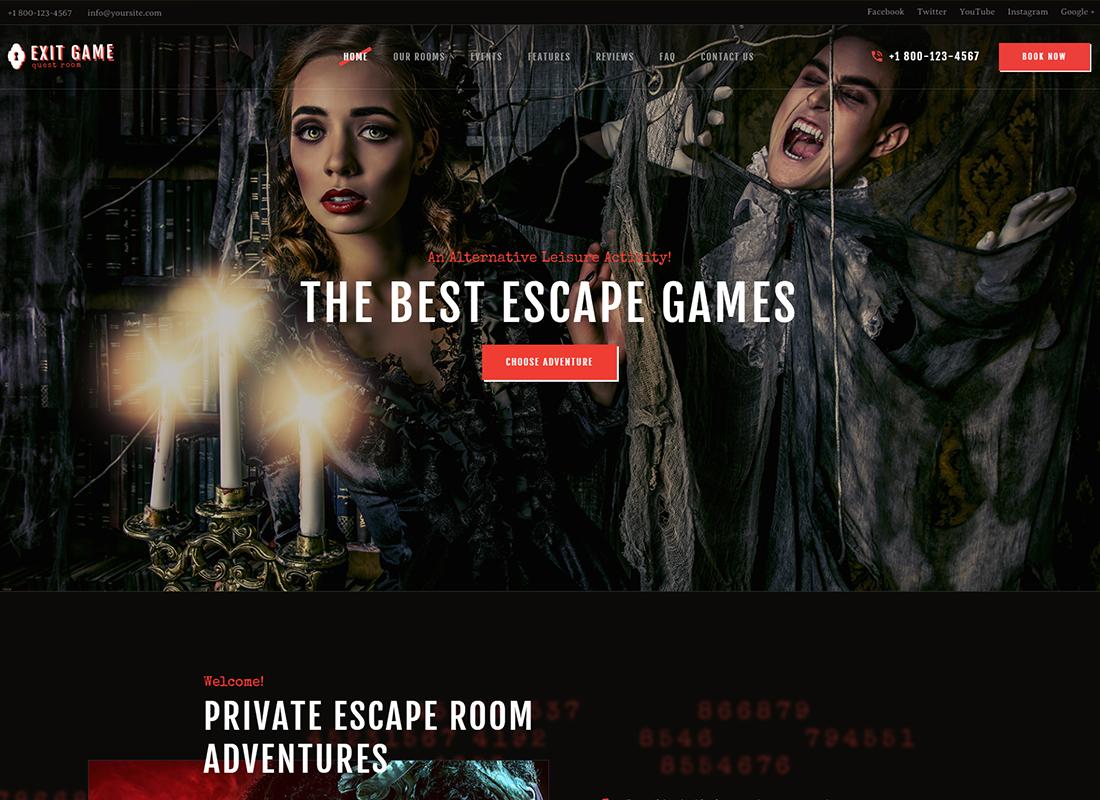 Quitter le jeu - Thème WordPress pour l'évasion de la salle réelle