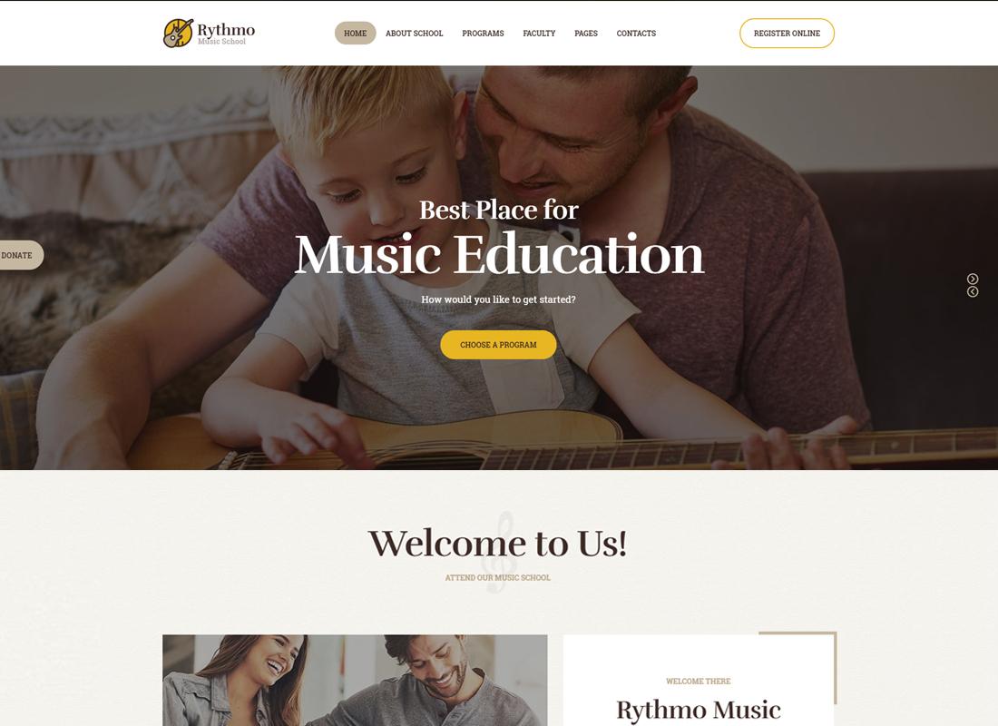 Rythmo - Thème WordPress pour école de musique