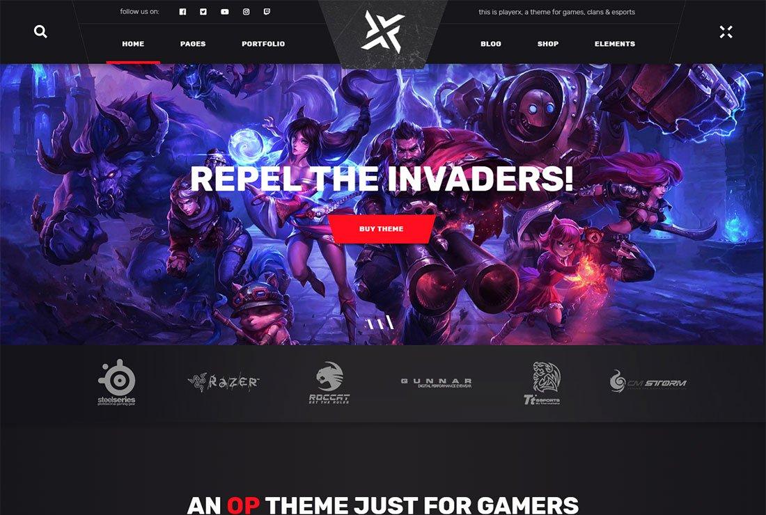 Thème de diffusion en direct PlayerX WordPress