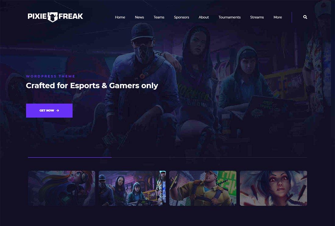 Thème de streaming en direct PixieFreak WordPress