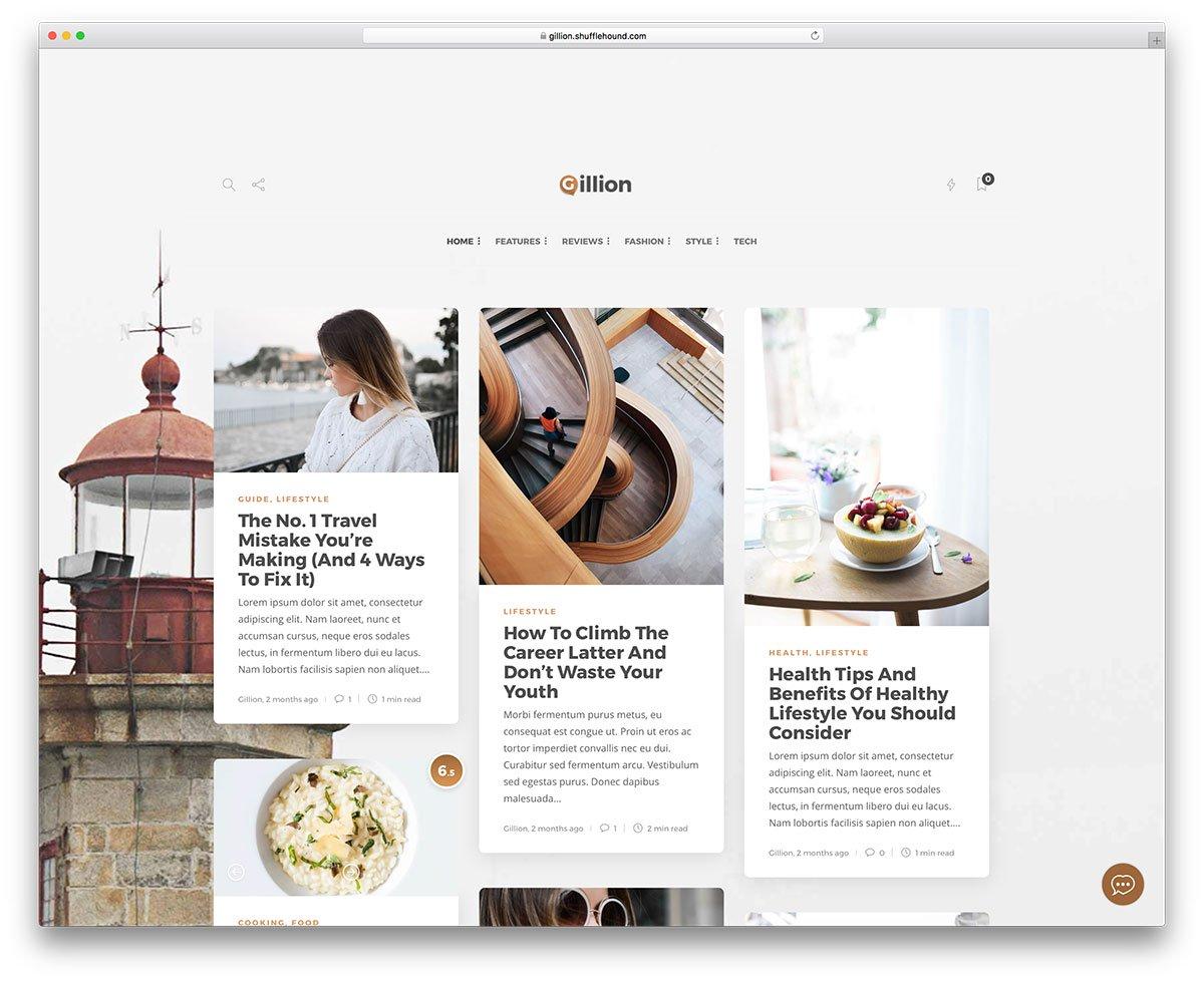 Thèmes WordPress design plat
