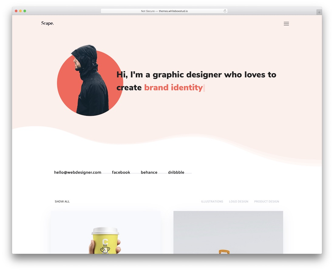 thème wordpress design plat scape