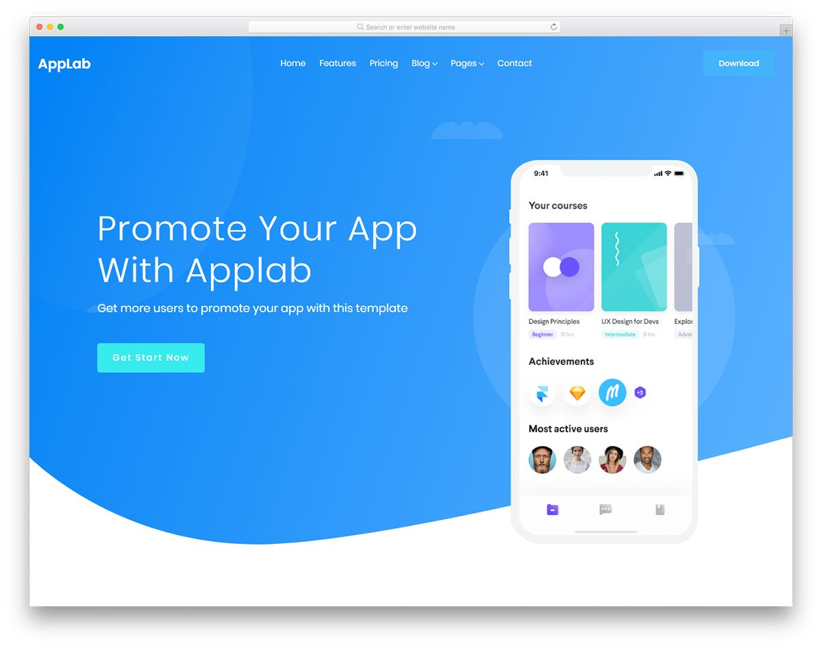 Modèle gratuit Applab