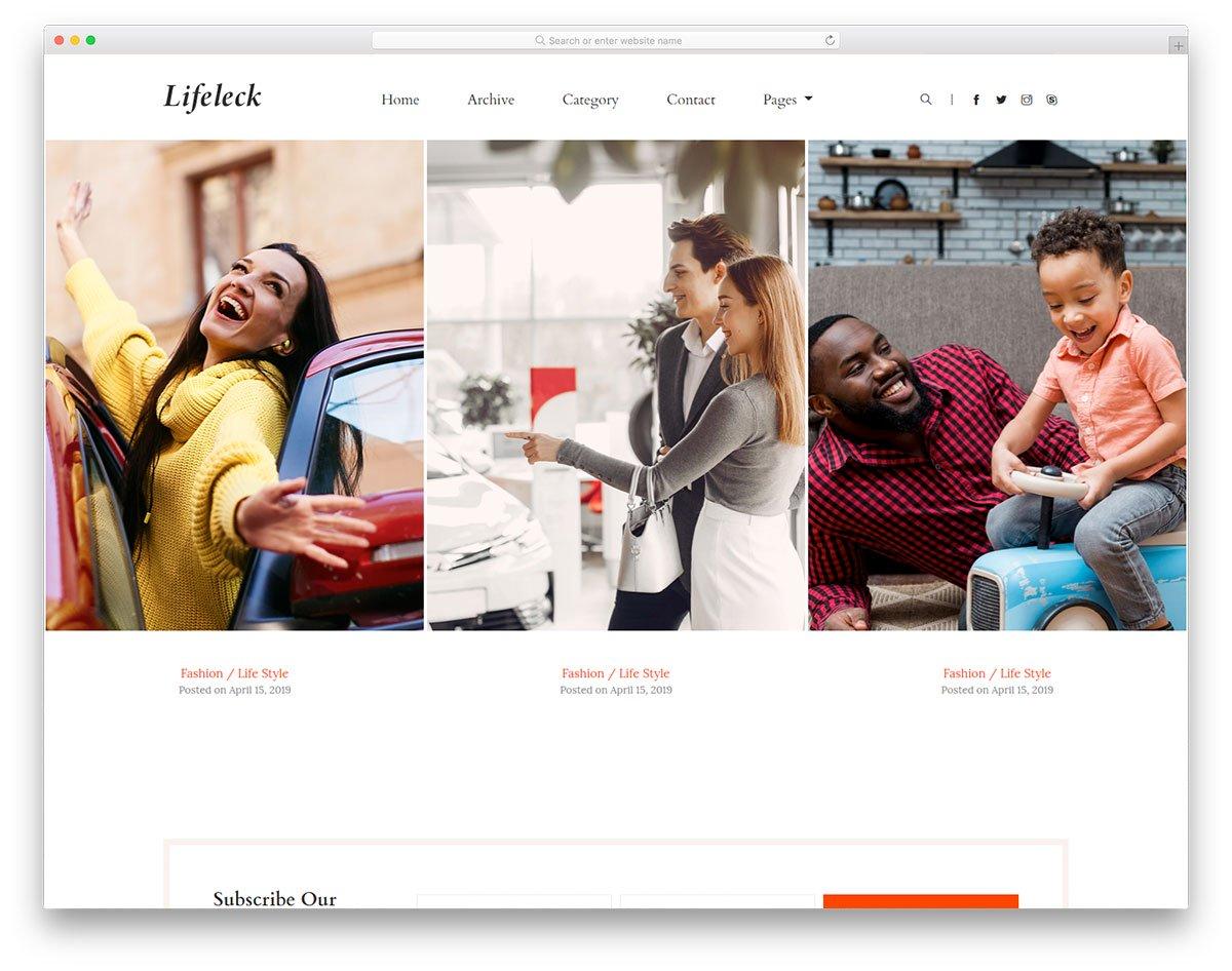 Modèle gratuit de Lifeleck