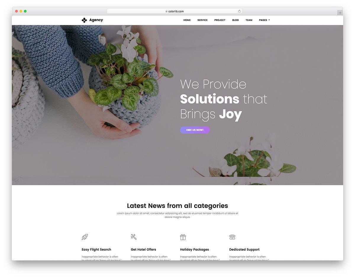 Agency free agency website template