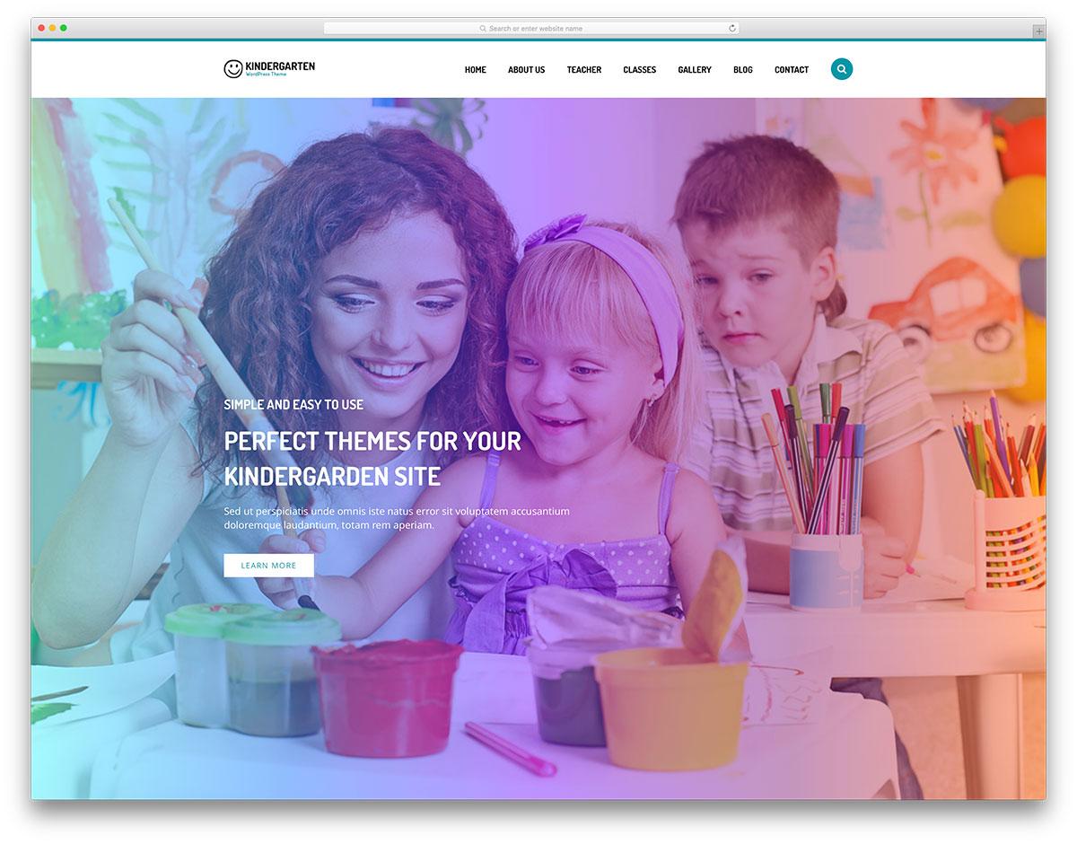 maternelle-lumineux-wordpress-site-web-modèle