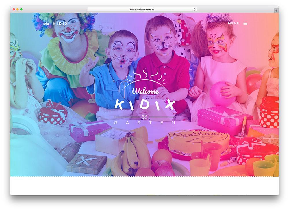 kidix-plein écran-enfants-éducation-thème