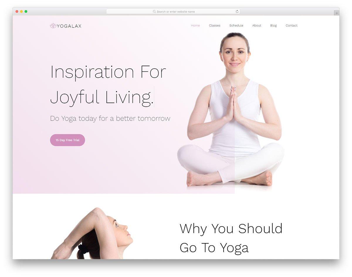 modèle gratuit yogalax