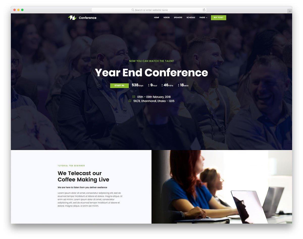 Modèle gratuit de conférence