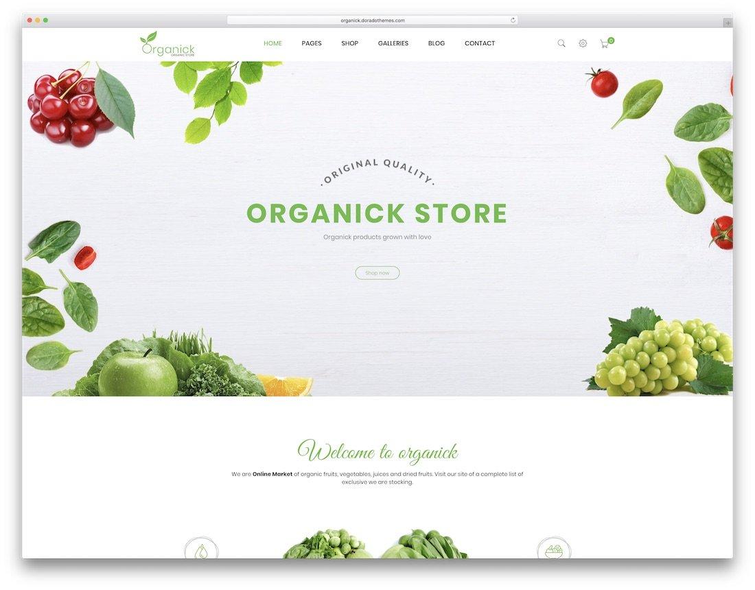 thème organick prestashop