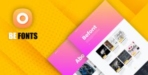 Befont – script Free fonts downloads System with Website