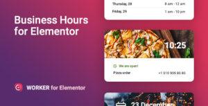 Business hours widget for Elementor – Worker