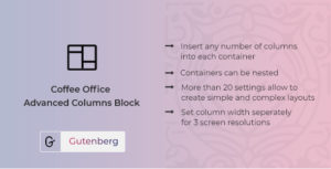 Coffee Office - Responsive Columns Block for Gutenberg