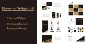 Elementor Widgets - iii - Professional and Unique Section Design Widgets
