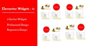 Elementor Widgets - iv - Professional and Unique Section Design Widgets