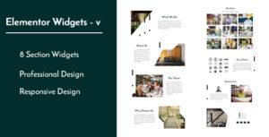 Elementor Widgets - v - Professional and Unique Section Design Widgets
