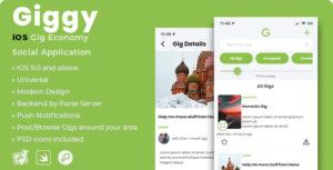 Giggy   iOS Gig Economy Social Application