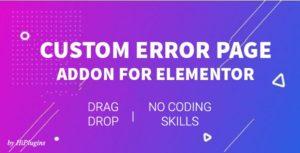 HI 404 Builder - 404 Page Builder For Elementor