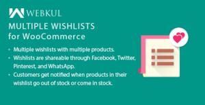 Multiple Wishlists for WooCommerce