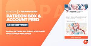 Patreon Box and About Feed WordPress Plugin