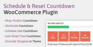 Schedule, Reset Countdown Plugin WooCommerce   WooCP
