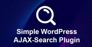 SnapSearch - Simple WordPress AJAX Search Plugin