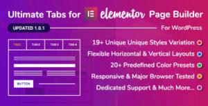 Ultimate Tabs - Addon for Elementor Page Builder WordPress Plugin