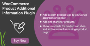 WooCommerce Product Additional Information Plugin