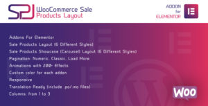 WooCommerce Sale Products Layout for Elementor WordPress Plugin