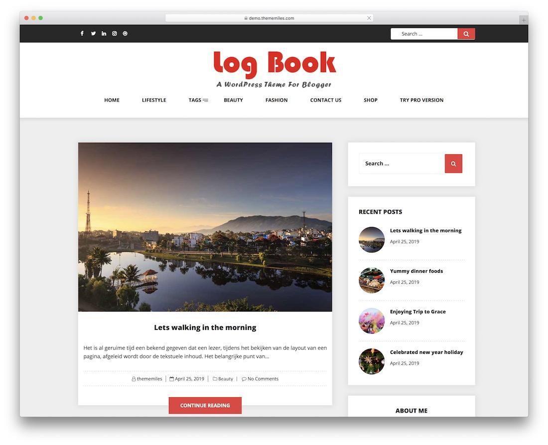 livre de bord gratuit nouvelles thème wordpress
