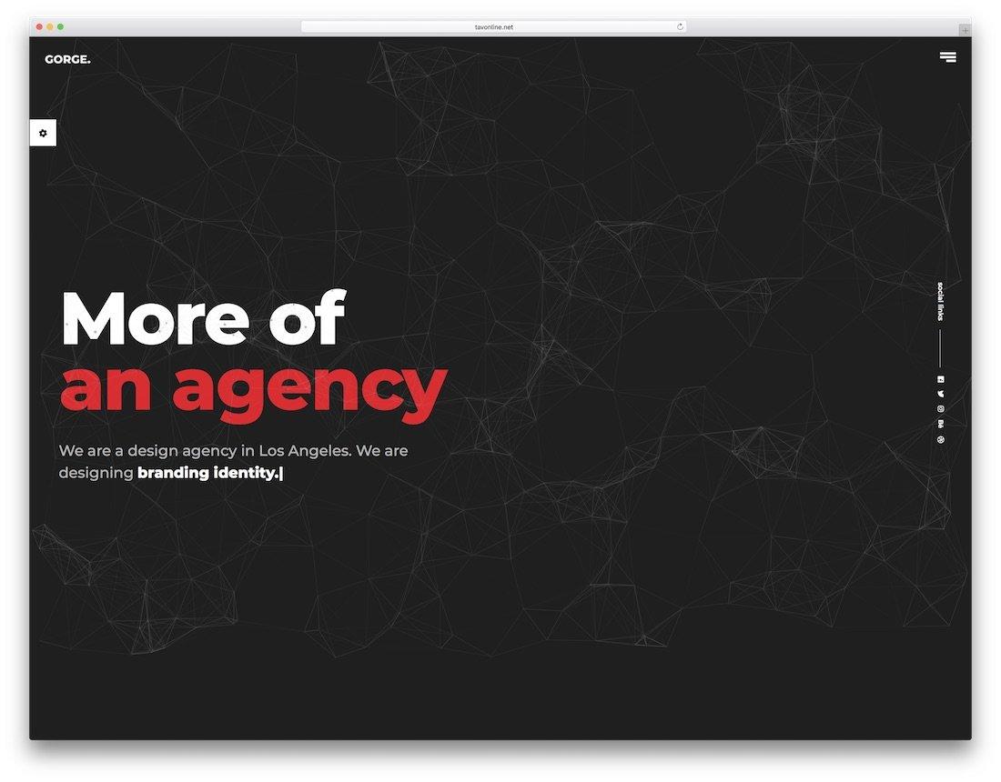 modèle de site Web de conception graphique de gorge