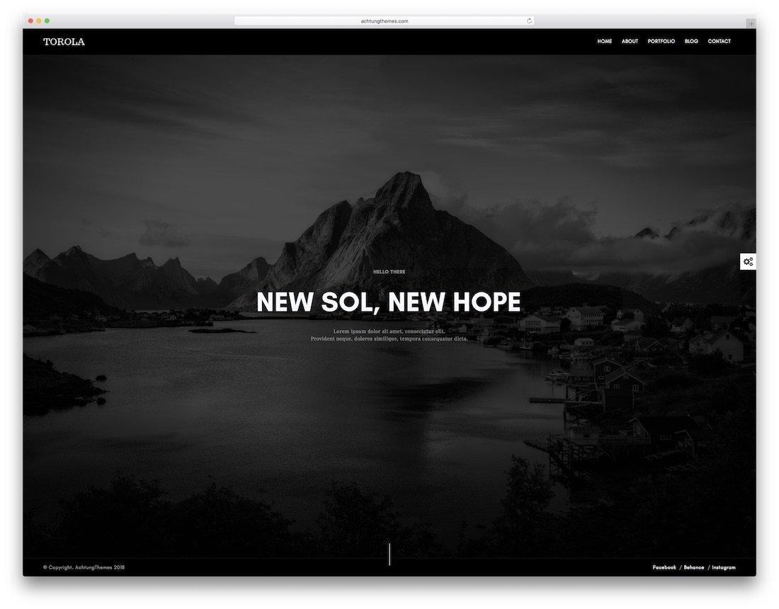 modèle de site Web de conception graphique torola