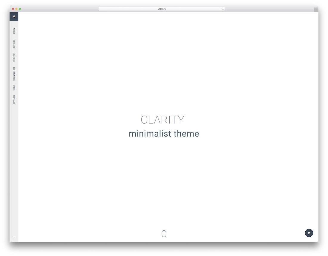 modèle de site Web de conception graphique de clarté