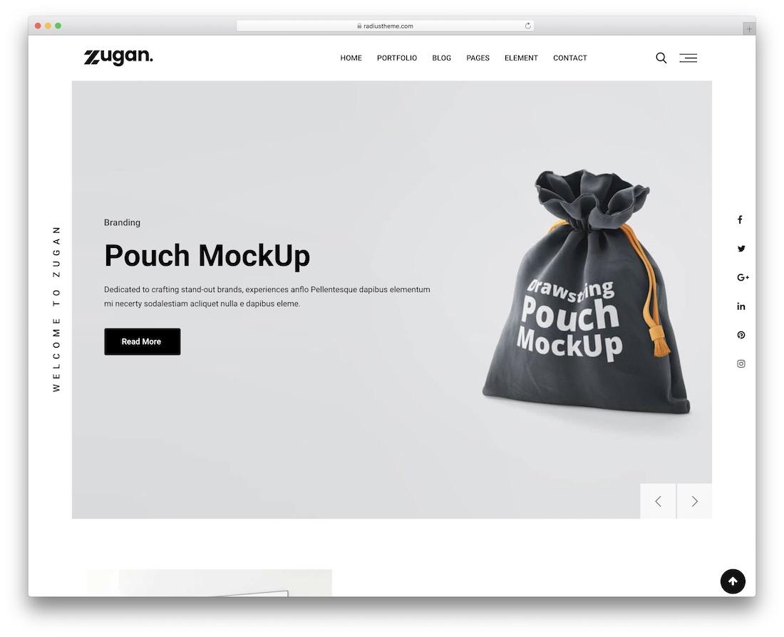 modèle de site Web de conception graphique zugan