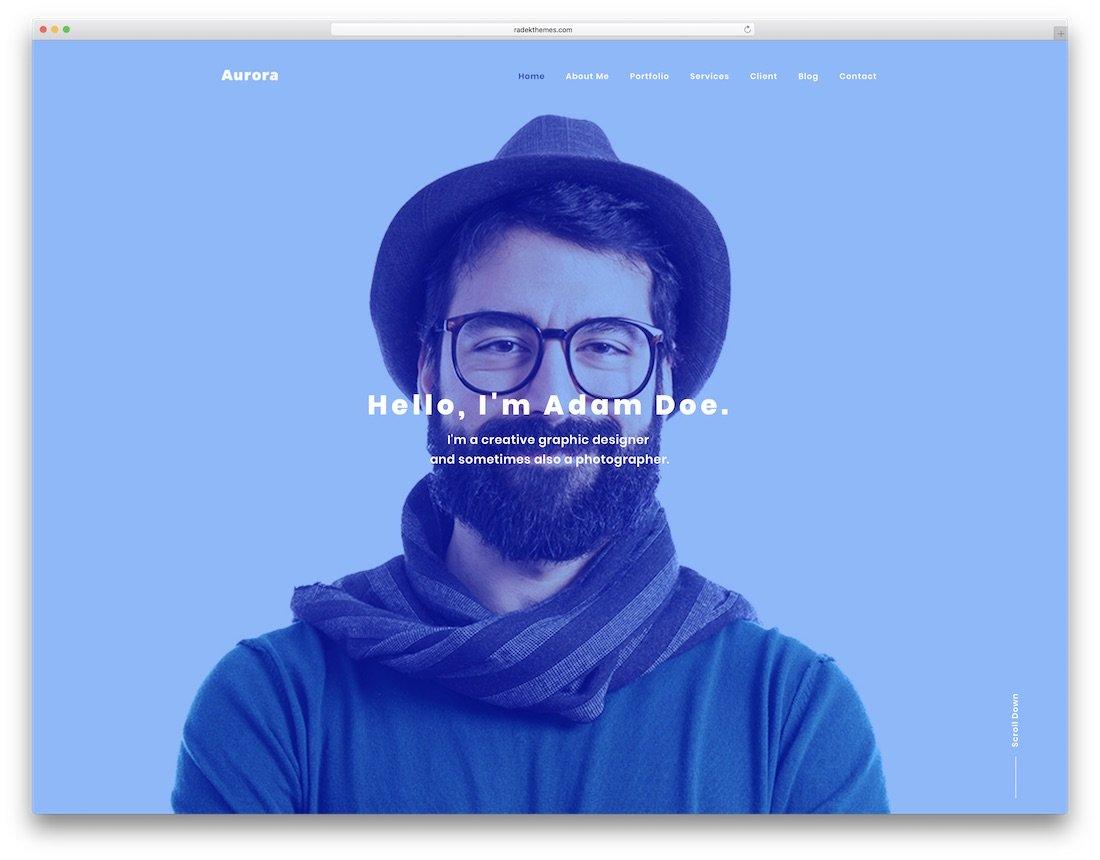 modèle de site Web de conception graphique aurora