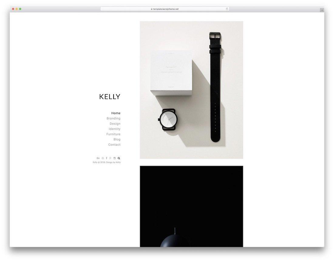 modèle de site Web de conception graphique kelly
